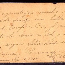 Postales: TARJETA POSTAL CUBA, FIRMADA POR RAMON GRAU SAN MARTIN. PRESIDENTE DE LA REPUBLICA DE CUBA. LEER. Lote 45840835