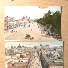 Postales: LOTE 3 POSTALES CIUDAD DE MEXICO - AV CINCO DE MAYO, JUAREZ , HOMBRES ILUSTRES. Lote 46007960