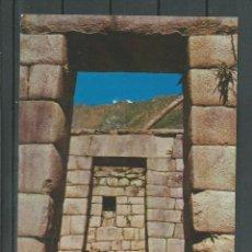 Postales: POSTAL DE PERU - PUERTAS TRAPEZOIDALES - MACHU PICHU -SIN CIRCULAR DE 1978. Lote 46477733