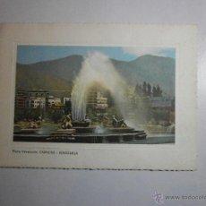Postales: POSTAL PLAZA VENEZUELA CARACAS - VENEZUELA ESCRITA. Lote 47245714