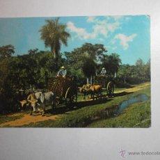 Postales: POSTAL PARAGUAY CARRETAS TIPICAS ESCRITA. Lote 47245725