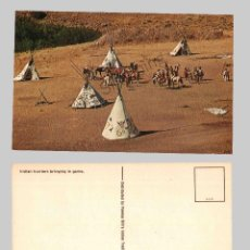 Postales: INDIAN HUNTERS BRINGING IN GAME - DISTRIBUTED BY PAWNEE BILL´S INDIAN TRADING POST. Lote 47357952