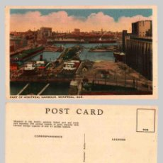 Postales: PART OF MONTREAL HARBOUR. MONTREAL, QUE. - OLD POSTCARD. Lote 47653384