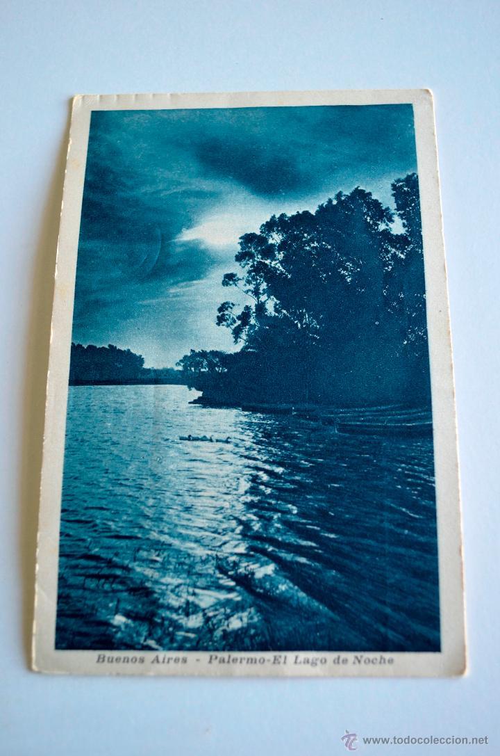 PEDIDO MINIMO 5 POSTALES 1923 PALERMO - EL LAGO DE NOCHE - BUENOS AIRES (Postales - Postales Extranjero - América)