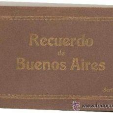 Postales: 10 POSTALES ANTIGUAS DE BUENOS AIRES , COLOREADAS . Lote 48335239