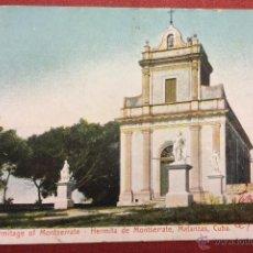 Postales: CUBA. MATANZAS. HERMITA DE MONTSERRATE. REVERSO SIN DIVIDIR.. Lote 48445682