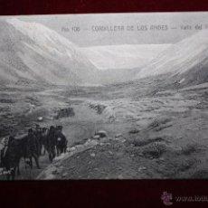 Postales: ANTIGUA POSTAL DE CORDILLERA DE LOS ANDES. CHILE. VALLE DEL INCA. SIN CIRCULAR. Lote 48448294