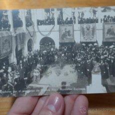 Postales: ANTIGUA POSTAL BENEDICION PABELLONES ESPAÑOLES POR ARZOBISPO DE BUENOS AIRES, ARGENTINA. Lote 48680310