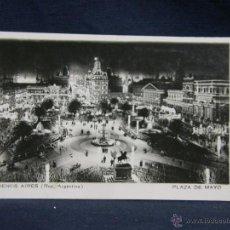 Postales: POSTAL BUENOS AIRES PLAZA DE MAYO 9 8 1932 AÑOS 30 PPIO S XX BLANCO Y NEGRO. Lote 49076054