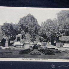Postales: POSTAL BUENOS AIRES ROSEDAL PALERMO 10 10 1933 AÑOS 30 PPIO S XX BLANCO Y NEGRO. Lote 49076178