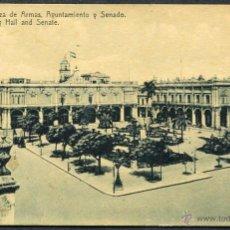 Postales: TARJETA POSTAL CENTENARIA DE CUBA - HABANA. PLAZA DE ARMAS, AYUNTAMIENTO Y SENADO. Lote 49094249
