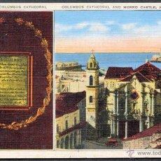 Postales: TARJETA POSTAL CENTENARIA DE CUBA - HABANA. CATEDRAL DE SAN CRISTOBAL. Lote 49201339