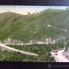 Postales: SANTIAGO DE CUBA CAMINO DEL PUERTO BONIATO - WAY TO PUERTO BONIATO. Lote 49414018