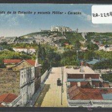 Postales: CARACAS - VENEZUELA - AVENIDA DE LA ESTACION Y ESCUELA MILITAR - (ZB-2258). Lote 49435384