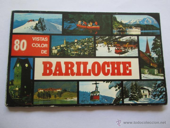 BARILOCHE 80 VISTAS COLOR, CIRCA 1965 - ALBUM PHOTOS (Postales - Postales Extranjero - América)