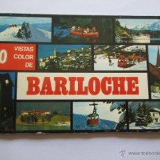 Postales: BARILOCHE 80 VISTAS COLOR, CIRCA 1965 - ALBUM PHOTOS. Lote 49455196
