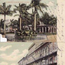 Postales: 2 POSTALES HABANA ESCRITAS 1908 (ESTÁN ROTAS). Lote 49490927