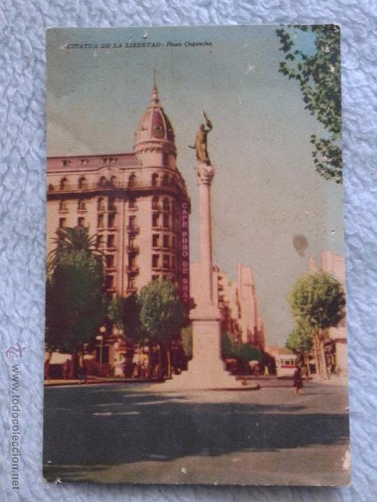 URUGUAYAN PLAZA CAGANCHA 1954 (Postales - Postales Extranjero - América)