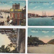 Postales: P- 1743. LOTE 4 POSTALES BUENOS AIRES. COLOREADAS.. Lote 50085666