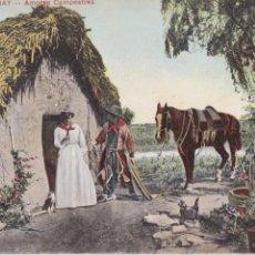 Postales: P- 1830. POSTAL DE URUGUAY. AMORES CAMPESTRES. COLOREADA.. Lote 50106236