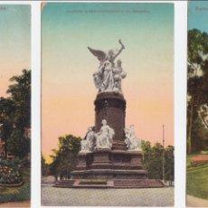 Postales: P- 1834. LOTE 3 POSTALES REPUBLICA ARGENTINA. BUENOS AIRES. MONUMENTOS.. Lote 50114856