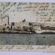 Postales: P-1987. HABANA. CASTILLO DEL MORRO. AÑO 1907. CIRCULADA. COLOREADA.. Lote 50197709