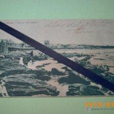 Postales: ANTIGUA POSTAL MAR DEL PLATA -PLAYA LA PERLA - BUENOS AIRES- ARGENTINA- EDIC.LIBRERIA REY 1918. Lote 51171996
