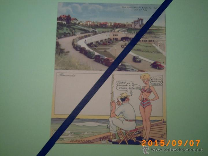 ANTIGUA POSTAL MAR DEL PLATA -VISTA PANORAMICA DEL PARQUE SAN MARTÍN -BUENOS AIRES-ARGENTINA-POSTAL (Postales - Postales Extranjero - América)