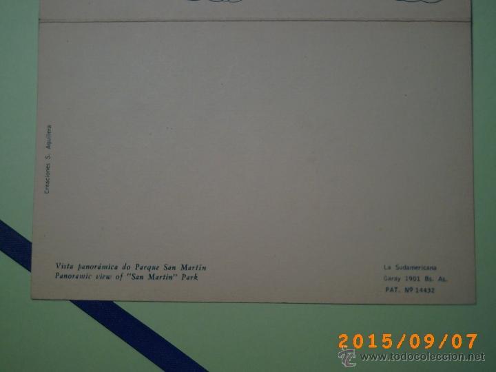 Postales: ANTIGUA POSTAL MAR DEL PLATA -VISTA PANORAMICA DEL PARQUE SAN MARTÍN -BUENOS AIRES-ARGENTINA-POSTAL - Foto 5 - 51172290