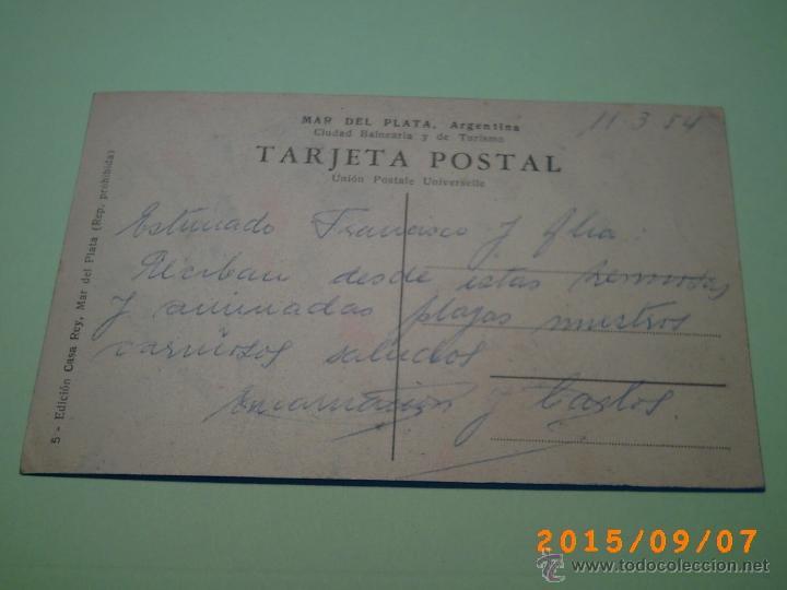 Postales: ANTIGUA POSTAL MAR DEL PLATA -PLAYA LA PERLA -BUENOS AIRES-ARGENTINA-ED. CASA REY -5- - Foto 2 - 51172360