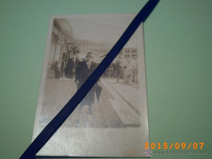 ANTIGUA POSTAL MAR DEL PLATA -TERRAZA HOTEL Y CONFITERIA CARBONI HNOS.-BUENOS AIRES-ARGENTINA-1927 (Postales - Postales Extranjero - América)