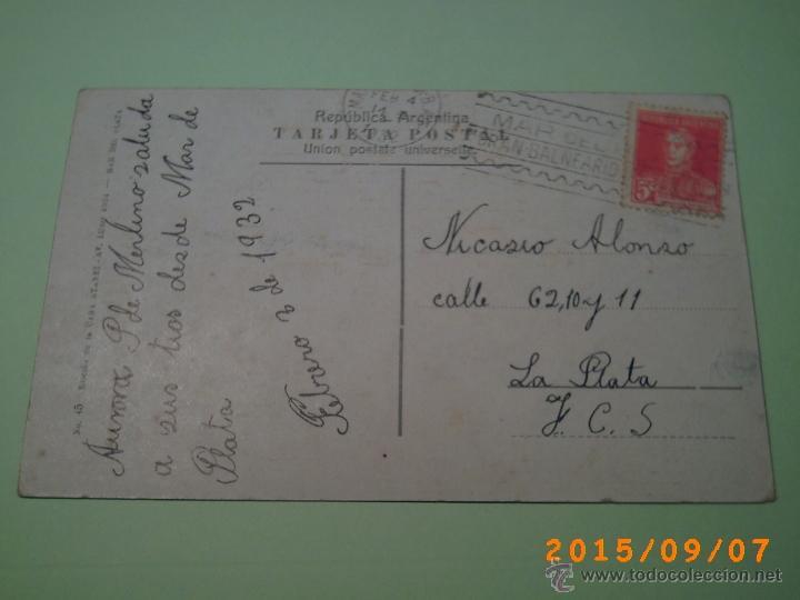 Postales: ANTIGUA POSTAL MAR DEL PLATA -PLAYA LA PERLA-BUENOS AIRES-ARGENTINA-ED. CASA ATANET 1932 - Foto 2 - 51172527