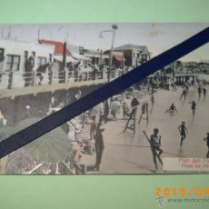 Postales: ANTIGUA POSTAL MAR DEL PLATA -PLAYA LA PERLA-BUENOS AIRES-ARGENTINA-ED. LIBRERIA REY 1933. Lote 51172626