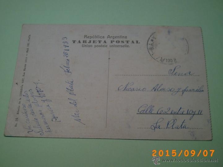Postales: ANTIGUA POSTAL MAR DEL PLATA -PLAYA LA PERLA-BUENOS AIRES-ARGENTINA-ED. LIBRERIA REY 1933 - Foto 2 - 51172626