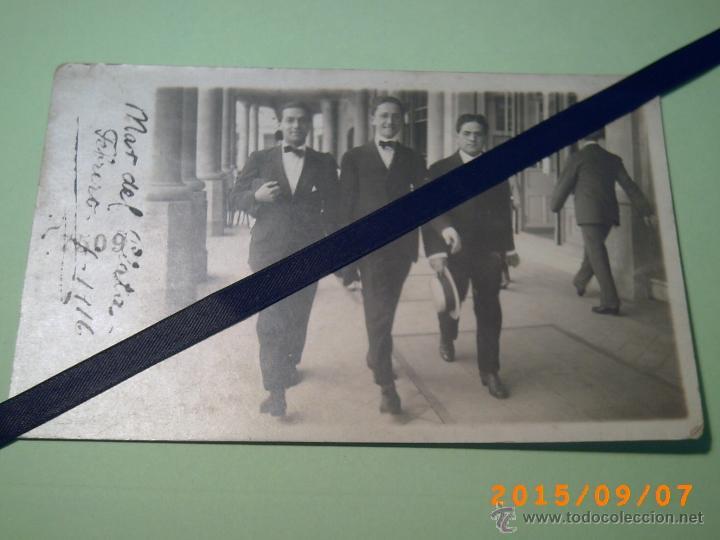 ANTIGUA POSTAL MAR DEL PLATA - -BUENOS AIRES-ARGENTINA- FOTO GARRO TEMPORADA 1916 (Postales - Postales Extranjero - América)