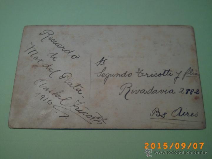 Postales: ANTIGUA POSTAL MAR DEL PLATA - -BUENOS AIRES-ARGENTINA- FOTO GARRO TEMPORADA 1916 - Foto 2 - 51173097