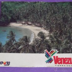 Postales: VENEZUELA-V21-PLAYA MEDINA-EXPO 92. Lote 51624355