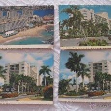 Postales: LOTE 4 POSTALES ANTIGUAS HOTELES DE PUERTO RICO HOTEL. Lote 51935898