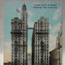 Postales: (XAM-2) PRECIOSA POSTAL DE LA CIUDAD DE NUEVA YORK. EDIFICIOS. CIRCULADA EN 1915. 2 SELLOS 1 CENT.. Lote 52019771