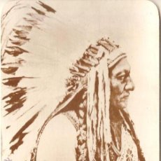 Postales: ANTIGUA POSTAL, SITTING BULL, JEFE SIOUX TETON - OLD WEST COLLECTORS SERIES - SIN CIRCULAR. Lote 52324283
