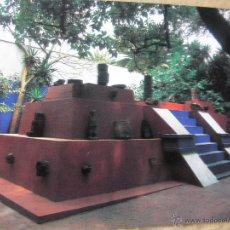 Postales: CASA AZUL. PIRÁMIDE CON PIEZAS PREHISPANICAS. COYOACAN, MÉXICO. (NUEVA). Lote 52538283