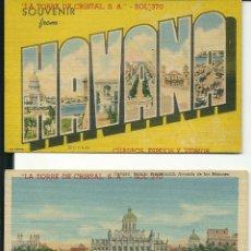 Postales: COLECCION 34 DE VISTAS DE CUBA AÑOS 40 PUBLICIDAD COMERCIAL (VER FOTOS ADICIONALES). Lote 52554422