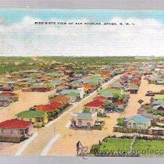 Postales: TARJETA POSTAL ARUBA. BIRD´S - EYE VIEW OF SAN NICOLAS.. Lote 52810806