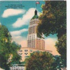 Postales: P- 3316. POSTAL DE TEXAS. TRANSIT TOWER FROM SAN ANTONIO RIVER. Nº 6.. Lote 52811631