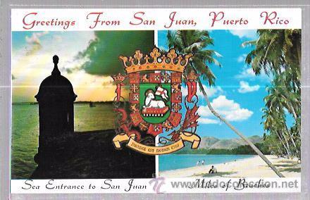 TARJETA POSTAL DE PUERTO RICO. GREETINGS FROM SAN JUAN. (Postales - Postales Extranjero - América)