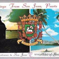 Postales: TARJETA POSTAL DE PUERTO RICO. GREETINGS FROM SAN JUAN.. Lote 52812936