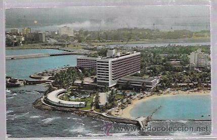 TARJETA POSTAL DE PUERTO RICO. THE CARIBE HILTON, SAN JUAN. (Postales - Postales Extranjero - América)