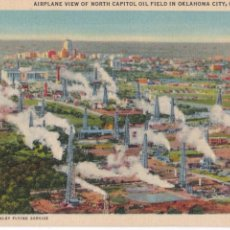 Postales: P-3393. POSTAL DE OKLAHOMA, AIRPLANE VIEW OF NORTH CAPITOL OIL FIELD. BLEAKLEY FLYING SERVICE.. Lote 52852328