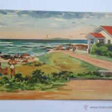 Postales: PUNTA DEL ESTE URUGUAY, BARRIO PARQUE EL JAGUEL ISLA DE LOBOS. Lote 52910495