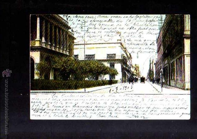 ANTIGUA POSTAL DE MEXICO. CALLE SAN FRANCISCO. CIRCULADA 1905 (Postales - Postales Extranjero - América)